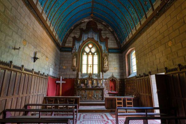 L'interieur de la chapelle du chateau de Gizeux