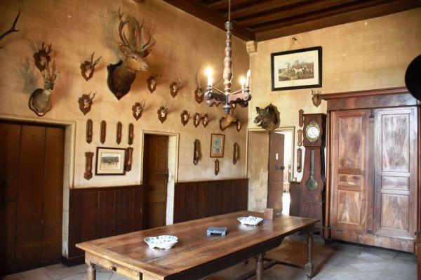 La salle de chasse du chateau