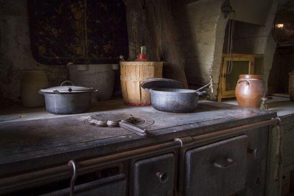 L'interieur de la cuisine du chateau