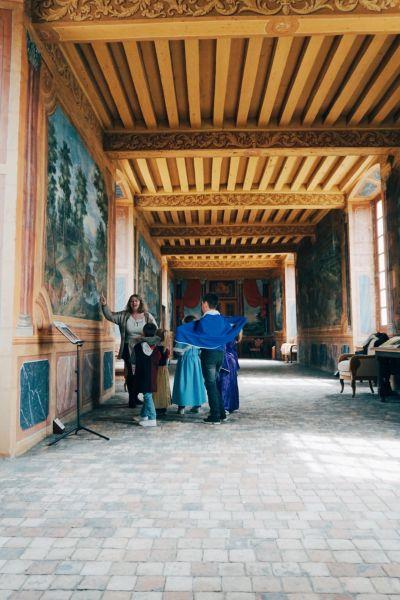 Visite costumée au chateau