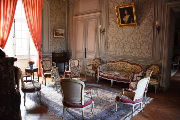 Salon du chateau de Gizeux