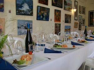 Déjeuner au chateau de Gizeux