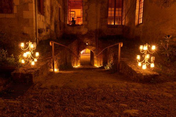 Visite nocture au chateau de Gizeux