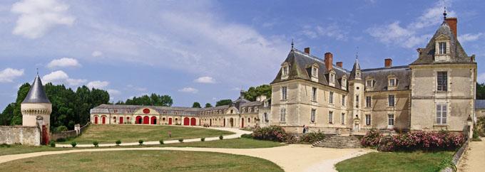 Vue panoramie du Château de Gizeux proche de Tours